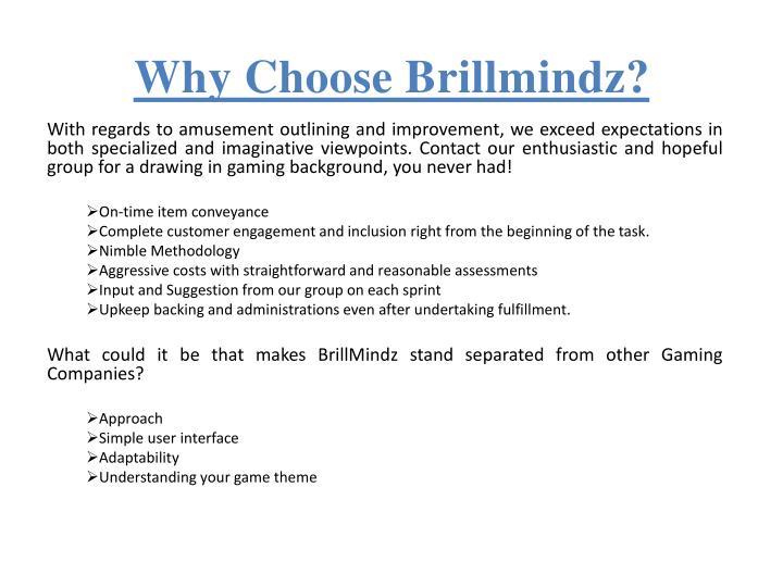 Why Choose Brillmindz?