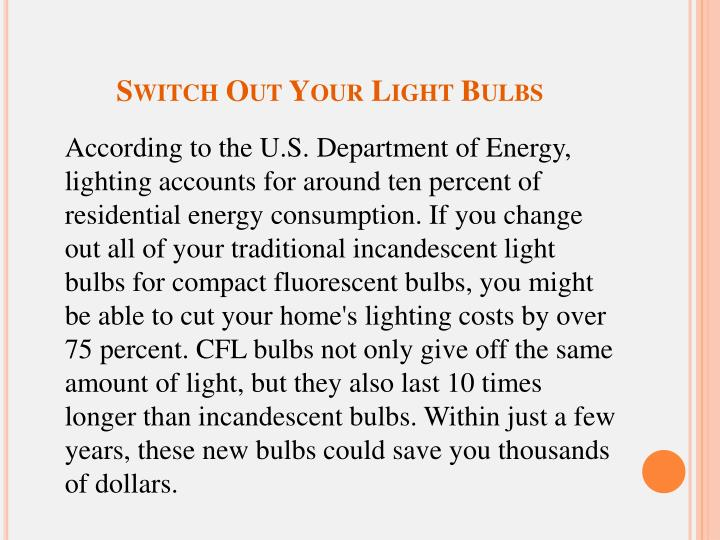 Switch Out Your Light Bulbs