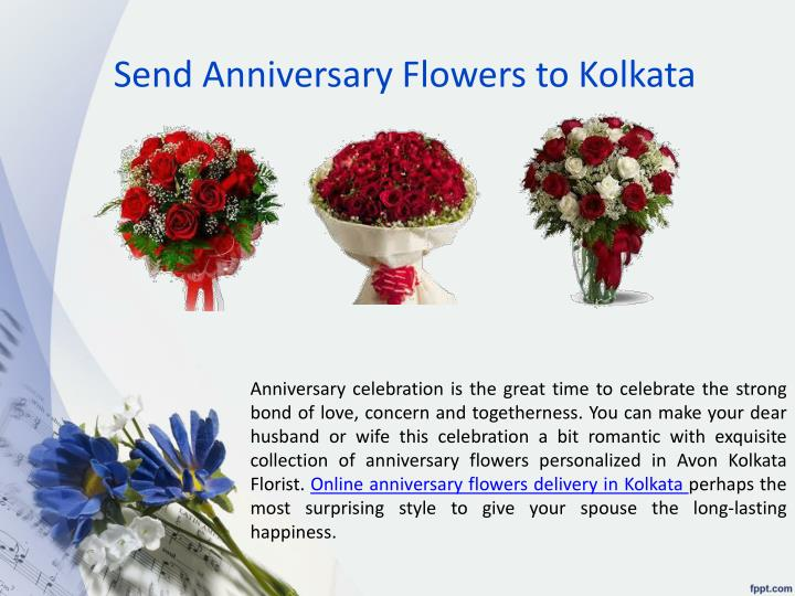 Send Anniversary Flowers to Kolkata