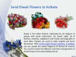 send diwali flowers to kolkata