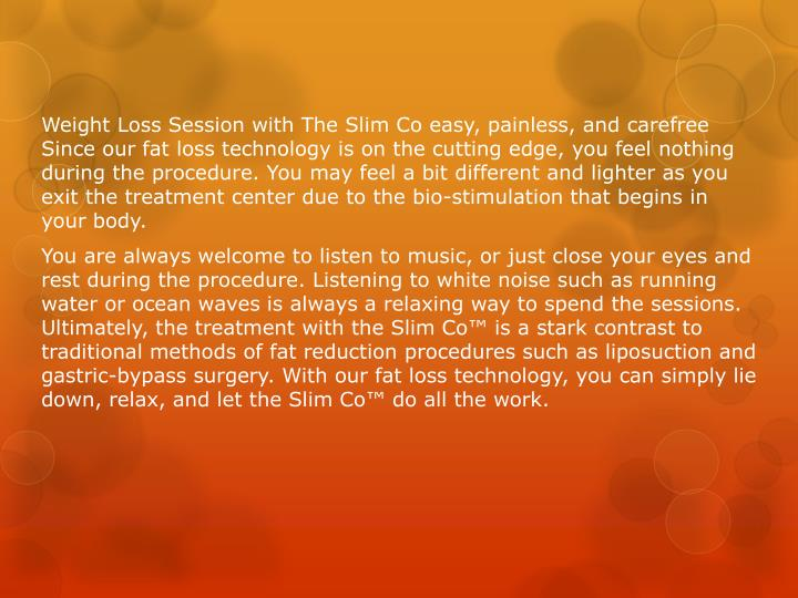 Weight Loss Session with The Slim Co easy, painless, and
