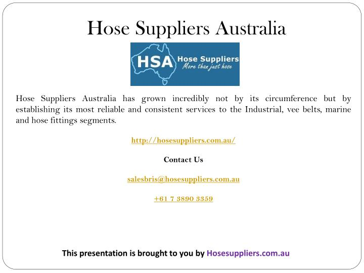 Hose Suppliers Australia