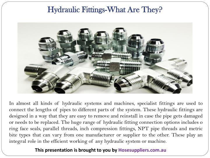 Hydraulic Fittings-What Are They?