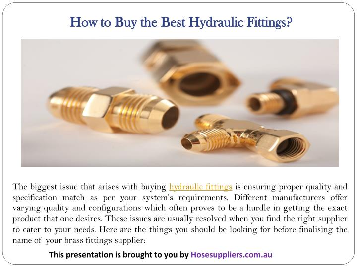 How to Buy the Best Hydraulic Fittings?