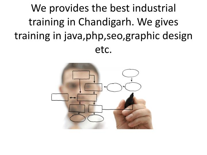 We provides the best industrial training in