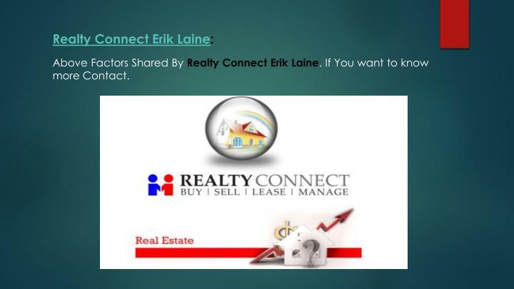 Realty Connect Erik Laine: