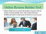 online resume builder tool
