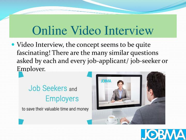 Online video interview