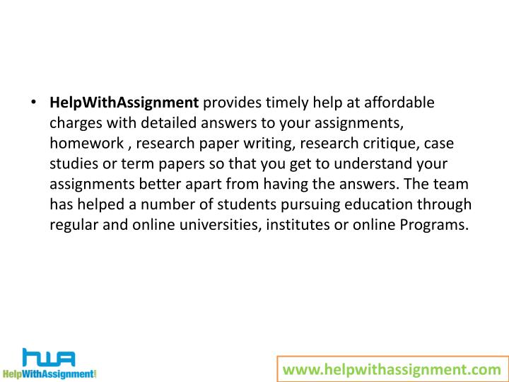 HelpWithAssignment
