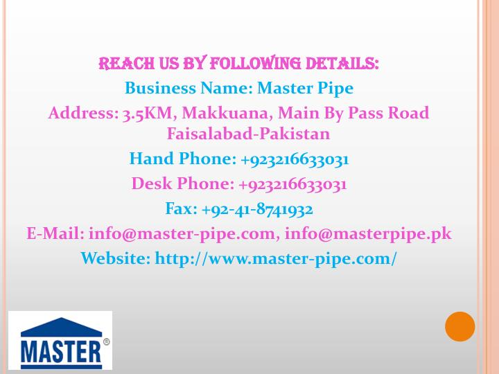 Reach Us By Following Details: