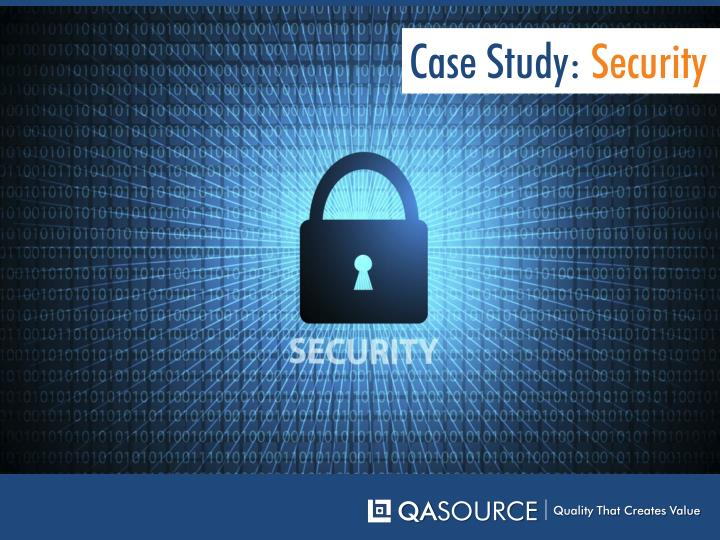 Case Study: Security