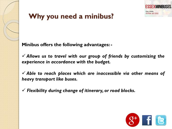 Why you need a minibus