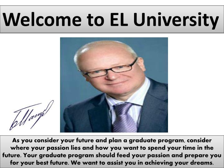 Welcome to EL University