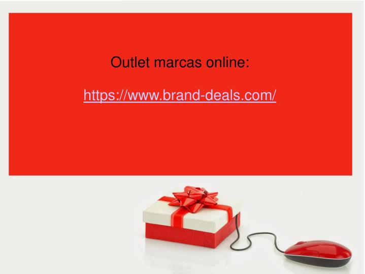 Outlet marcas online: