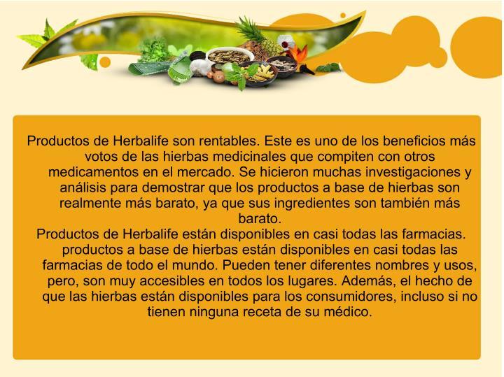 Productos de Herbalife son rentables. Este es uno de los beneficios más