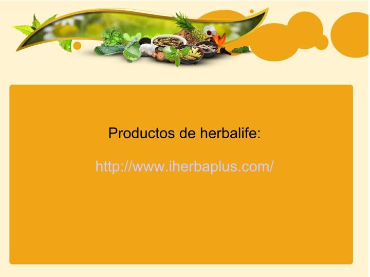 Productos de herbalife:
