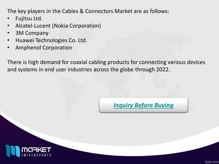 The key players in the Cables & Connectors Market are as follows: