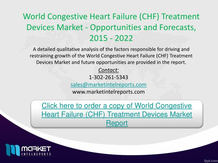 World Congestive Heart Failure (CHF) Treatment Devices Market - Opportunities and Forecasts, 2015 - 2022