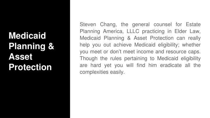 Medicaid Planning & Asset Protection