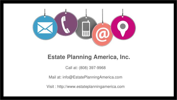 Estate Planning America, Inc.