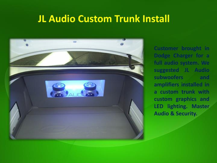 JL Audio Custom Trunk Install