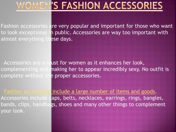Women s fashion accessories