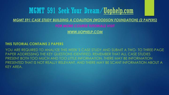 Mgmt 591 seek your dream uophelp com1