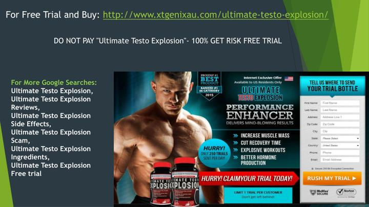 For Free Trial and Buy: http://www.xtgenixau.com/ultimate-testo-explosion/