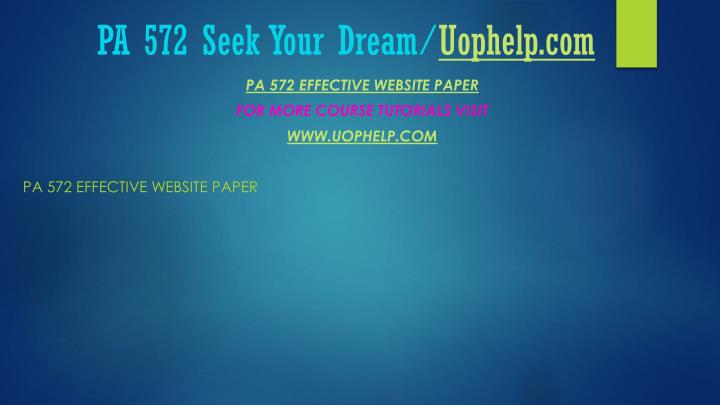 Pa 572 seek your dream uophelp com1