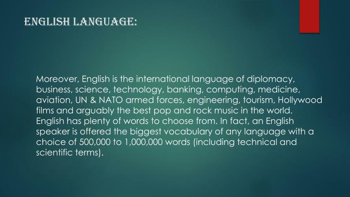 English Language: