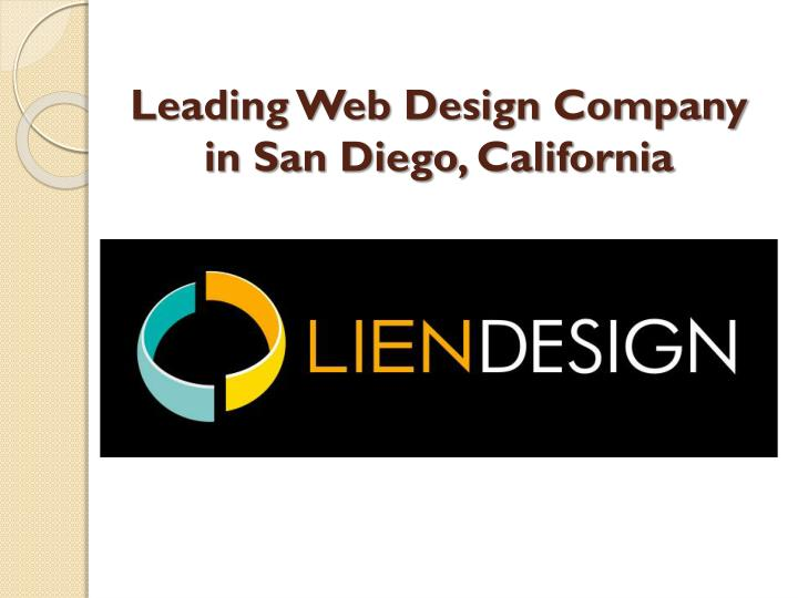 Leading web design company in san diego california