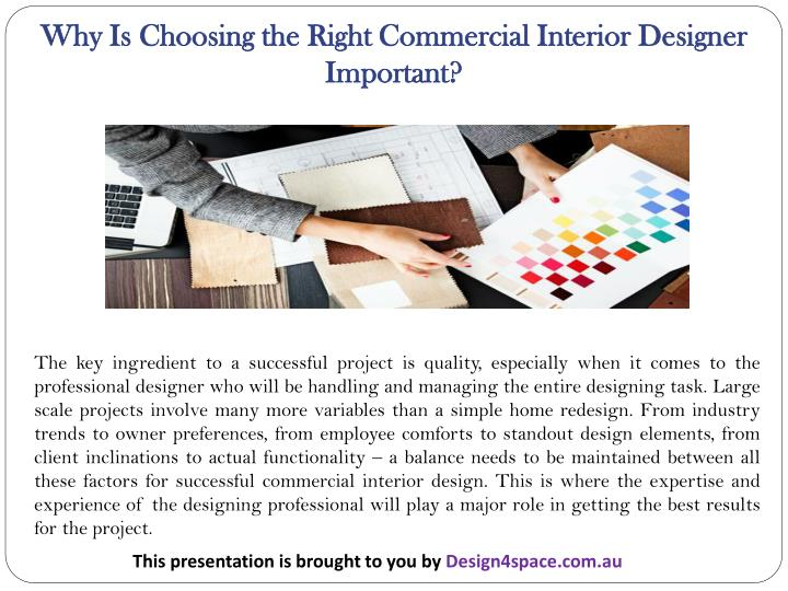 Why Is Choosing the Right Commercial Interior Designer Important?