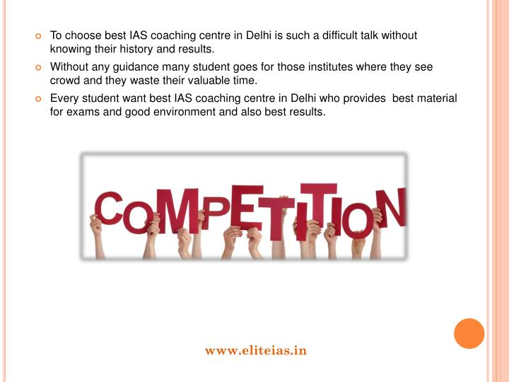 To choose best IAS coaching centre in Delhi is such a difficult talk without knowing their history and results.