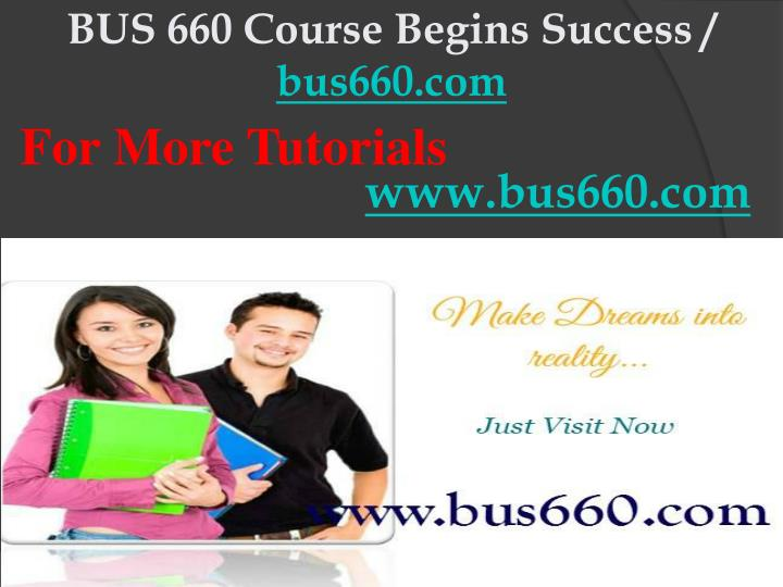 Bus 660 course begins success bus660 com