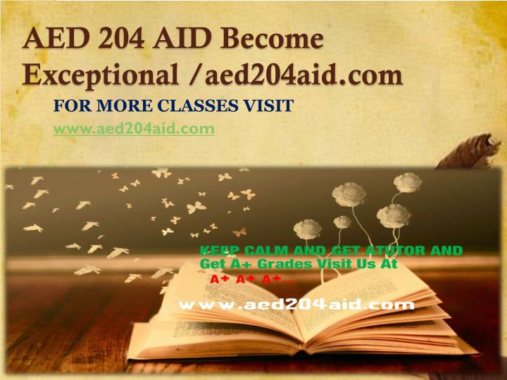 Aed 204 aid become exceptional aed204aid com
