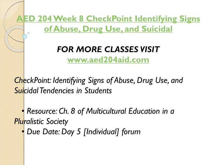 AED 204 Week 8