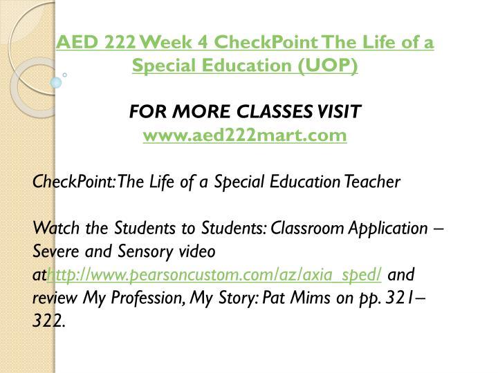 AED 222 Week 4