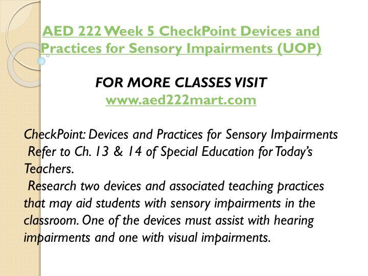 AED 222 Week 5