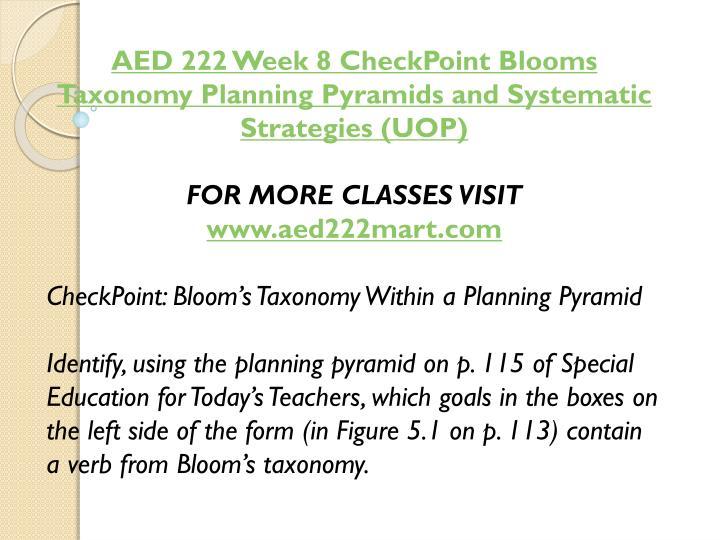 AED 222 Week 8