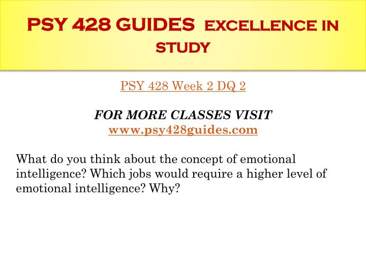 PSY 428 GUIDES