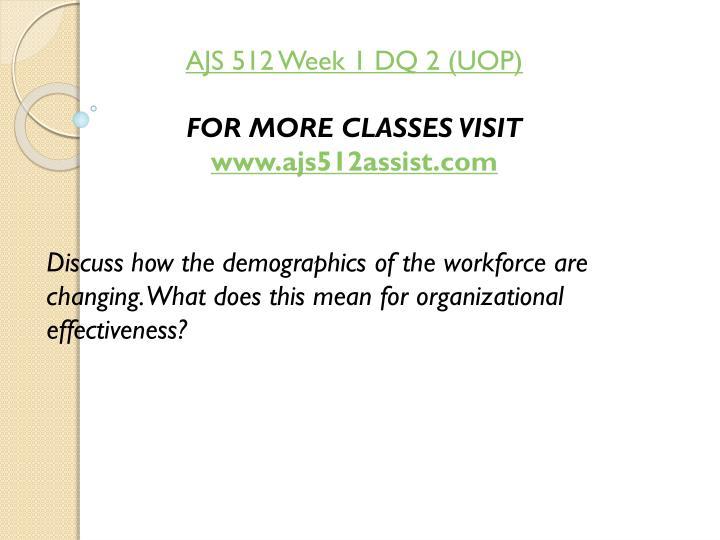 AJS 512 Week 1 DQ 2 (UOP)