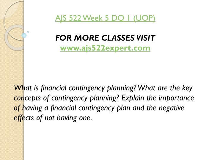 AJS 522 Week 5 DQ 1 (UOP)