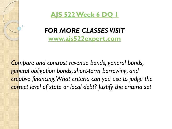 AJS 522 Week 6 DQ 1