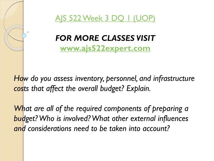 AJS 522 Week 3 DQ 1 (UOP)