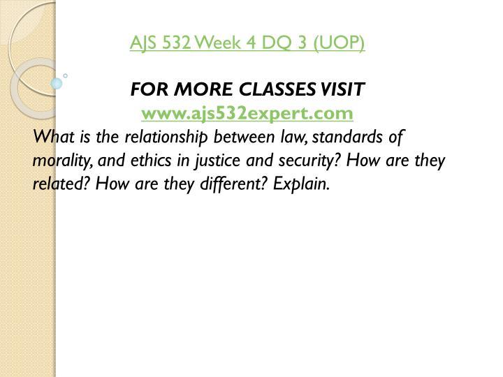 AJS 532 Week 4 DQ 3 (UOP)
