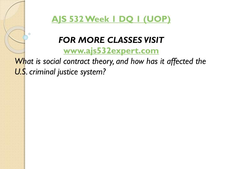 AJS 532 Week 1 DQ 1 (UOP)