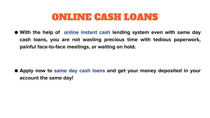 ONLINE CASH LOANS