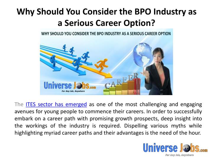 Why should you consider the bpo industry as a serious career option