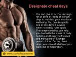 designate cheat days