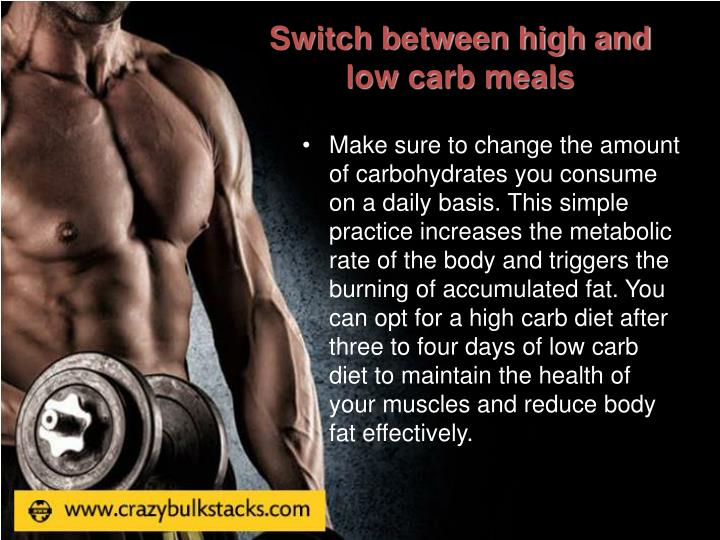 Switch between high and low carb meals